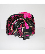 Juicy Couture Leopard Pink & Black Cosmetic Travel Case Set - $29.00