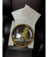 """Vintage Norman Rockwell """"Pondering on the Porch"""" Collector Plate NEW - $39.60"""