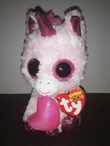 "MWMTs Ty 6"" Beanie Boo ""DARLING"" the Valentines Unicorn Pink Glitter - $6.99"