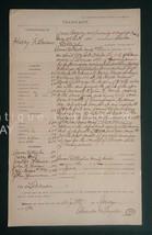 1901 antique CRIMINAL LEGAL WARRANT lebanon pa BURNS FORGERY CONTERFEIT ... - $68.95