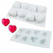 OCPO Silicone Molds for Baking 3D Heart Mold Silicone Mousse Cake Fondan... - $15.61