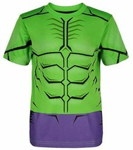 Marvel Avengers Hulk Sports shirt & mesh shorts -SZ 4T,-TODDLER GREEN/PURPLE NEW image 2