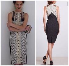 Anthropologie Lasercut Sheath Dress by Byron Lars Sz 10 - NWOT Navy & Pink - $193.54
