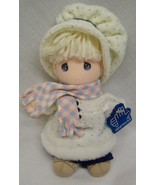 """Applause Precious Moments CUTE DOLL IN WINTER OUTFIT 7"""" Plush STUFFED DO... - $16.34"""