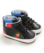 Black Leather High Gang Walking Shoes Infant Soft Bottom Toddler Shoes G... - $18.99