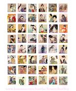 "vintage geisha japanese women clipart digital download collage sheet 1"" ... - $3.99"