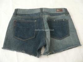 New PAIGE Premium Denim cutoff blue jean shorts 28 Silver Lake two-tone sexy - $67.89