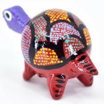 Handmade Oaxacan Alebrijes Wood Carving Folk Art Turtle Bobble Head Figurine image 3