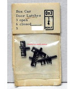 Grandt Line~O-Scale/On3/1:48~5~Box Car Door Latches, 3 Open & 6 Closed~M... - $10.00