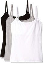 Pact Women's Everyday Camisole w/Shelf Bra 3-Pack Multi X-Large - $69.07