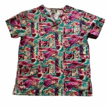WS Performance By Fundamentals Size Small Women's Nurse Scrub Top With P... - $14.85