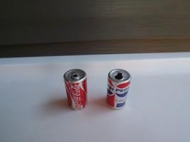 "Barbie Size 1"" Coca Cola and Pepsi Caffeine Soda Pop - $7.69"