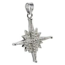 Star of Bethlehem Pendant With Swarovski Сrystals Silver 925 Holy Land - $24.75
