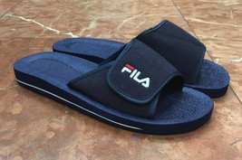 Men's Fila Slip on Low Navy Flip Flops  - $49.00