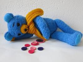 Handmade Teddy Bear Stuffed Toy Animal - Birthday Gift - Nursery Decoration - $48.00