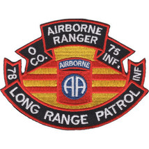 """4"""" Army Airborne Ranger 75TH Infantry Long Range Patrol Embroidered Patch - $17.09"""