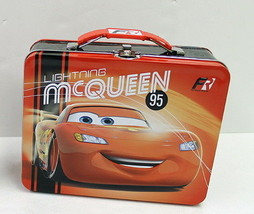 Walt Disney's Cars Embossed Large Carry All Tin Tote Lunchbox Style B NEW UNUSED - $14.46