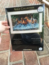 """Dimensions Gold Collection Galloping Horses Cross Stitch Kit New 18""""x10"""" 35214 - $147.51"""