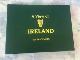 """Set of 6 """"A View of Ireland""""  Cork Back Placemats Made In Ireland - $11.30"""
