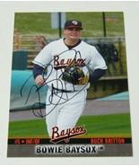 2014 Buck Britton Signed Orioles Autographed card Bowie Baysox - $1.99