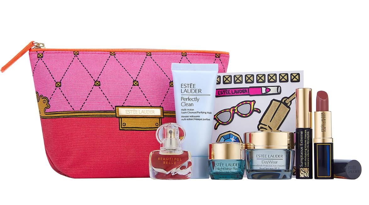 New Estee Lauder Spring 2020 Cosmetics 7 piece gift set - $33.42