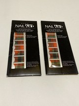 AVON Nail Art Design Strips in Totally Tartan Red Plaid Set of 2 (36 Str... - $14.99