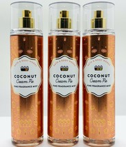 3-Pack Bath Body Works COCONUT CREAM PIE Fine Fragrance Mist Spray 8 fl.oz - $39.55