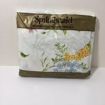 Double Fitted Sheet Springmaid Wondercale White Floral - $19.34