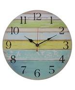 Old Oak 16-Inch Large Beach Wall Clock Decorative Silent Non-Ticking Nau... - $32.86