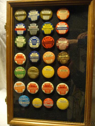 Pennsylvania PA Fishing License Collection 1932 - 1975
