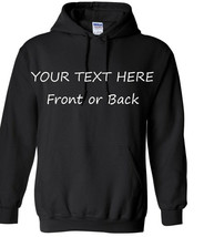 Personalized Hoodie Sweatshirt With Your Custom Text Printed Many Colors - $34.99