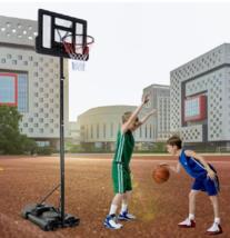 Portable Basketball Hoop Backboard Adjustable Height Outdoor Play Equipm... - $174.39