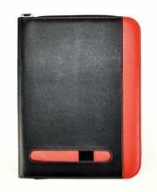 A4 Black/Red Presentation Executive Conference Folder Portfolio Calculat... - $19.73