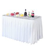 4 FOOT X-LARGE PARTY ICE BIN FOLDING TABLE WITH SKIRT - CATERING DRINK B... - $138.55