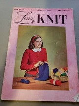 Vtg 1948 LEARN TO KNIT MAGAZINE #234 CLARK'S INSTRUCTIONS PATTERNS  - $22.26