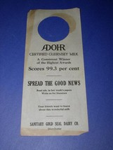 ADOHR MILK ADVERTISING FLYER VINTAGE 1921 - $18.99
