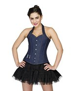 Animal Print Polyester Gothic Steampunk Halloween Corset Bustier Overbus... - $59.99