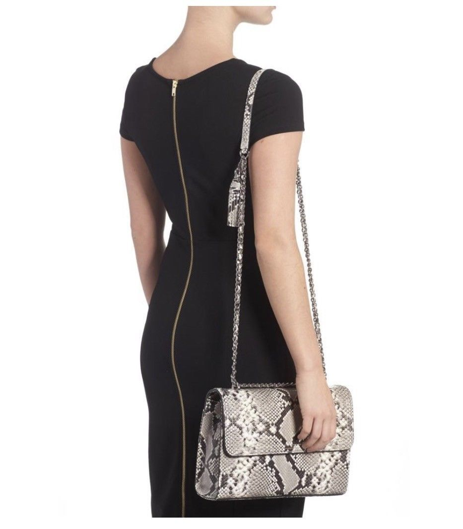 NWT Tory Burch Fleming Embossed Snake Convertible Shoulder Bag New $598 image 5