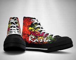 Lion Rasta  Canvas Sneakers Shoes - $49.99