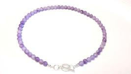 Light Amethyst gemstone necklace (NBE0007) made... - $55.00