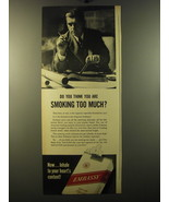 1950 Embassy Cigarettes Advertisement - Do you think you are smoking too... - $14.99