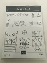 Stampin Up Sunny Day Clear Mount Stamp Set Dreams Happen Lemonade Sun St... - $24.99
