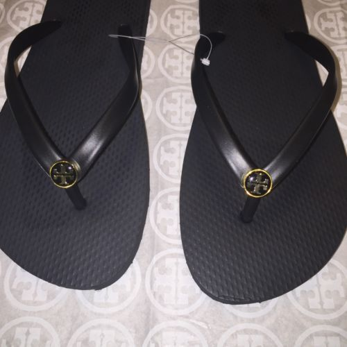 6e6d2d06359f57 NIB Tory Burch Thin Flip-Flops in Black Size and 18 similar items