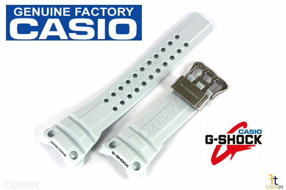 Primary image for CASIO G-SHOCK Gulfmaster GWN-1000E-8A White/Greyish Rubber Wristwatch Band