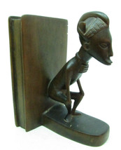 "Beautifully Hand Carved Wood African Tribal Man Bookend 7.25"" - $19.80"