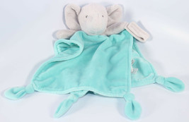 Carters GRAY TURQUOISE ELEPHANT RATTLE LOVEY Security PACIFIER LOOP KNOTS - $20.78