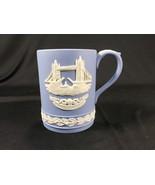 Vintage Wedgwood Blue Jasperware Christmas 1975 Tankard Mug Tower Bridge - $24.99