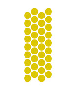 LiteMark Reflective Lemon Yellow 1 Inch Circle Decals - Pack of 36 - $10.95