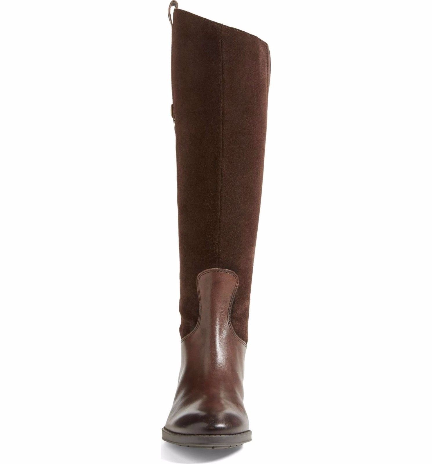 e36635d1eabec8 SAM EDELMAN New Pembrooke Tall Knee Leather Suede Zip Riding Brown Boots 4.5