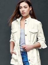 Gap Women's Utility Jacket, 100% Cotton, Off White, Size L, NWT - $67.49